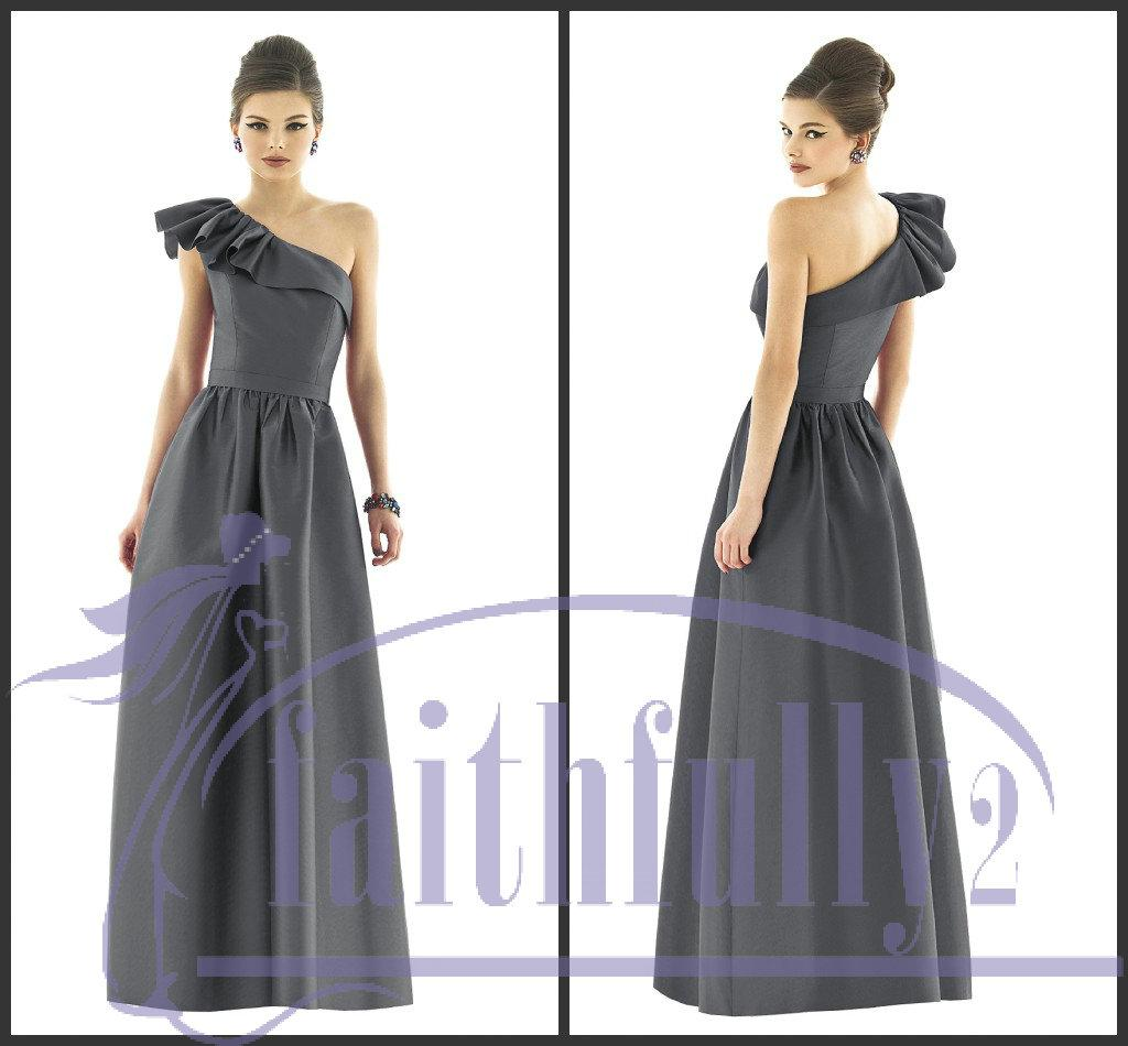 Charcoal gray bridesmaid dresses royal blue sheath flouncing one charcoal gray bridesmaid dresses royal blue sheath flouncing one shoulder band pleats full d549 one shoulder bridesmaid dresses plum bridesmaid dresses from ombrellifo Image collections