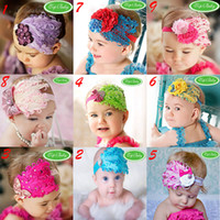 Wholesale Cheaper Feather Headbands - Baby Feather Headbands 100% Feather Baby Flower Headband Girls' Hairbands Hairwear Christmas Hair Tie Cheap Jewelry 10PCS LOT Free Shipping