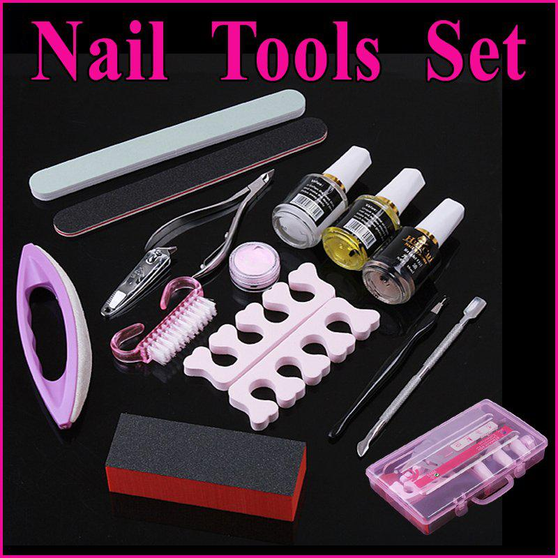 Professional Manicure Pedicure Nail Art Tool Cuticle Nipper Cutter Sanding File Kit SetFree Shippin Pictures Step By From Bandd