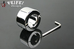 Wholesale Male Chasity Rings - Real Stainless Steel Ball Stretcher Male chasity BDSM device Chastity Ring 033