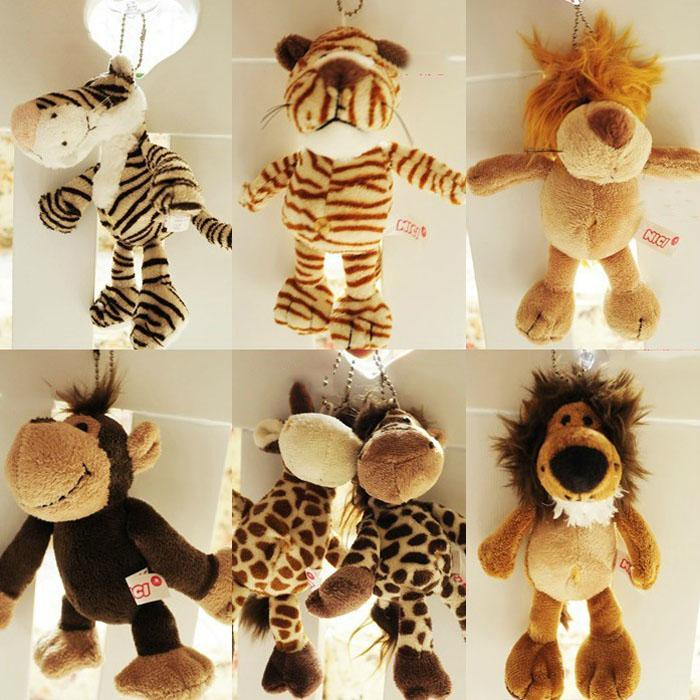 2019 Retail Nici 16cm Stuffed Animals Pendant Giraffe Lion Tiger Toy