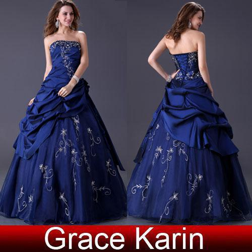 Retail Ball Gown Royal Blue Wedding Dresses Bridal Gown 6 Size 6 8 ...