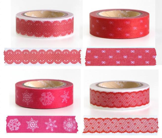 Mooie afdrukken Washi Tape 32 Designs Vintage Kant Dotty Check Cartoon Series Washi Maskering Tape