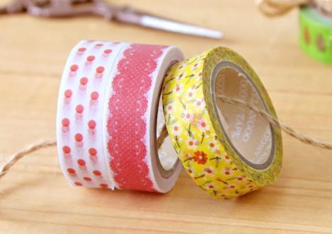 Trevligt utskrift Washi Tape 32 Designs Vintage Lace Dotty Check Cartoon Series Washi Masking Tape