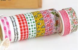 Wholesale Washi Tape Japanese - Colorful Sticky Japanese style printing washi tape 32 design Vintage washi masking tape