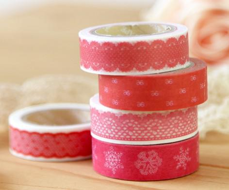 Bunte klebrige japanische Art Washi Tape 32 Design Vintage Washi Masking Tape