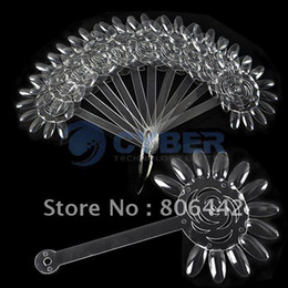 Wholesale Transparent Nail Display - [AJ402]False Nail Art Board Tips Stick Foldable Polish Display Practice Transparent Fan Clear Free Shipping