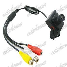 Wholesale Ccd Color Camera Board - Mini Sony HAD CCD 600TVL 16mm Board Lens Security A V Wired Color CCTV HD Camera