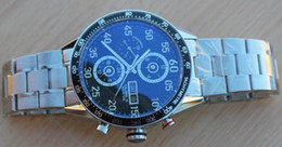 Wholesale Calibre 16 Black Dial - Luxury Mens Automatic Swiss Eta 7750 Chronograph Watch Black Dial Tag Calibre 16 Diver Men Watches