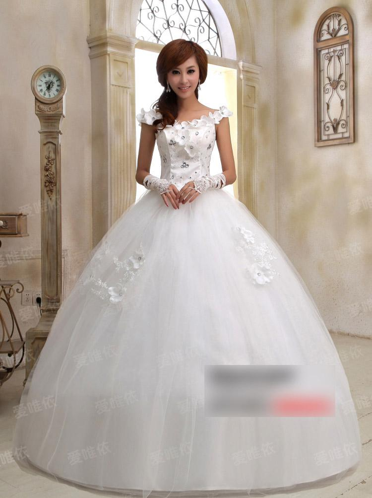 Cheap Wedding Dress Fashion Wedding Grown With Men Made Diamonds ...