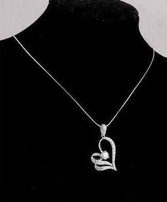 freie Shiping Herz-Halskette CZ-Kristall mit zwei Schichten Bohemian 15st / Los Weihnachtsgeschenk