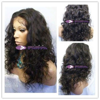 FREE SHIPPING DHL curly lace front wig 100% indian virgin re...