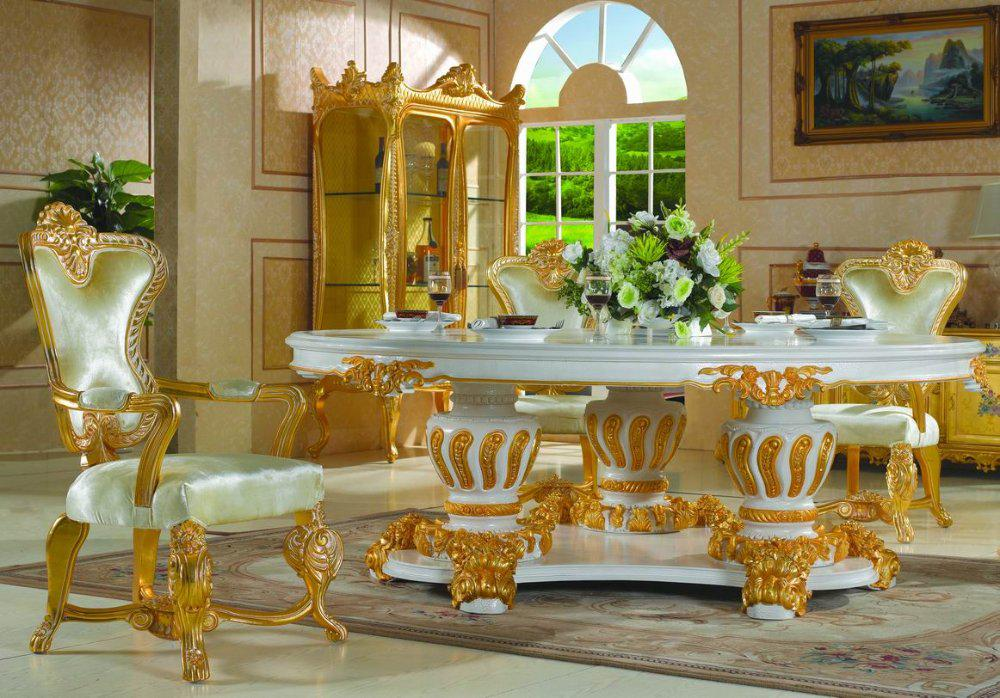 Palace Royal Classic Furniture Handwork Gilding Golden