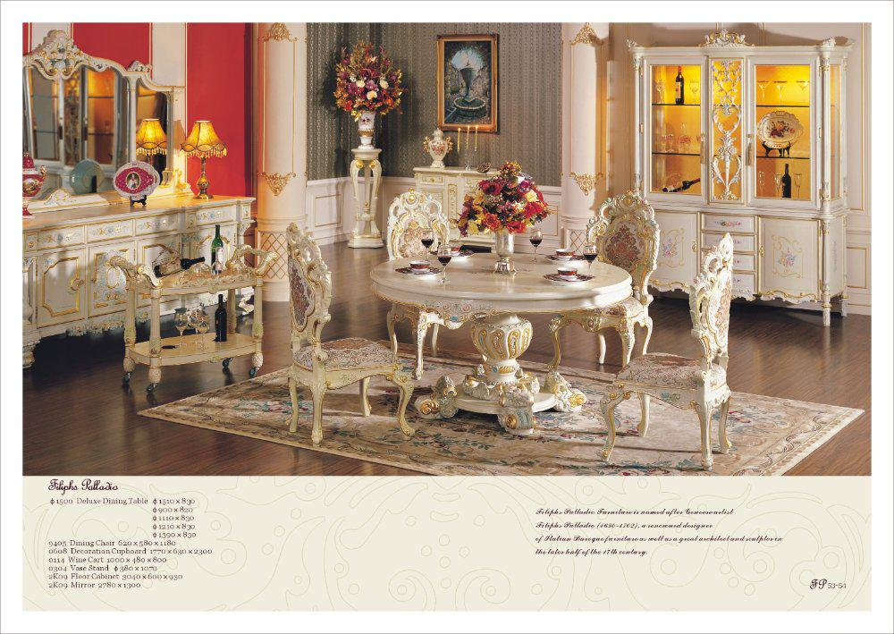 See larger image. 2018 Rococo Style Furniture Classical Carved Furniture Dining Room