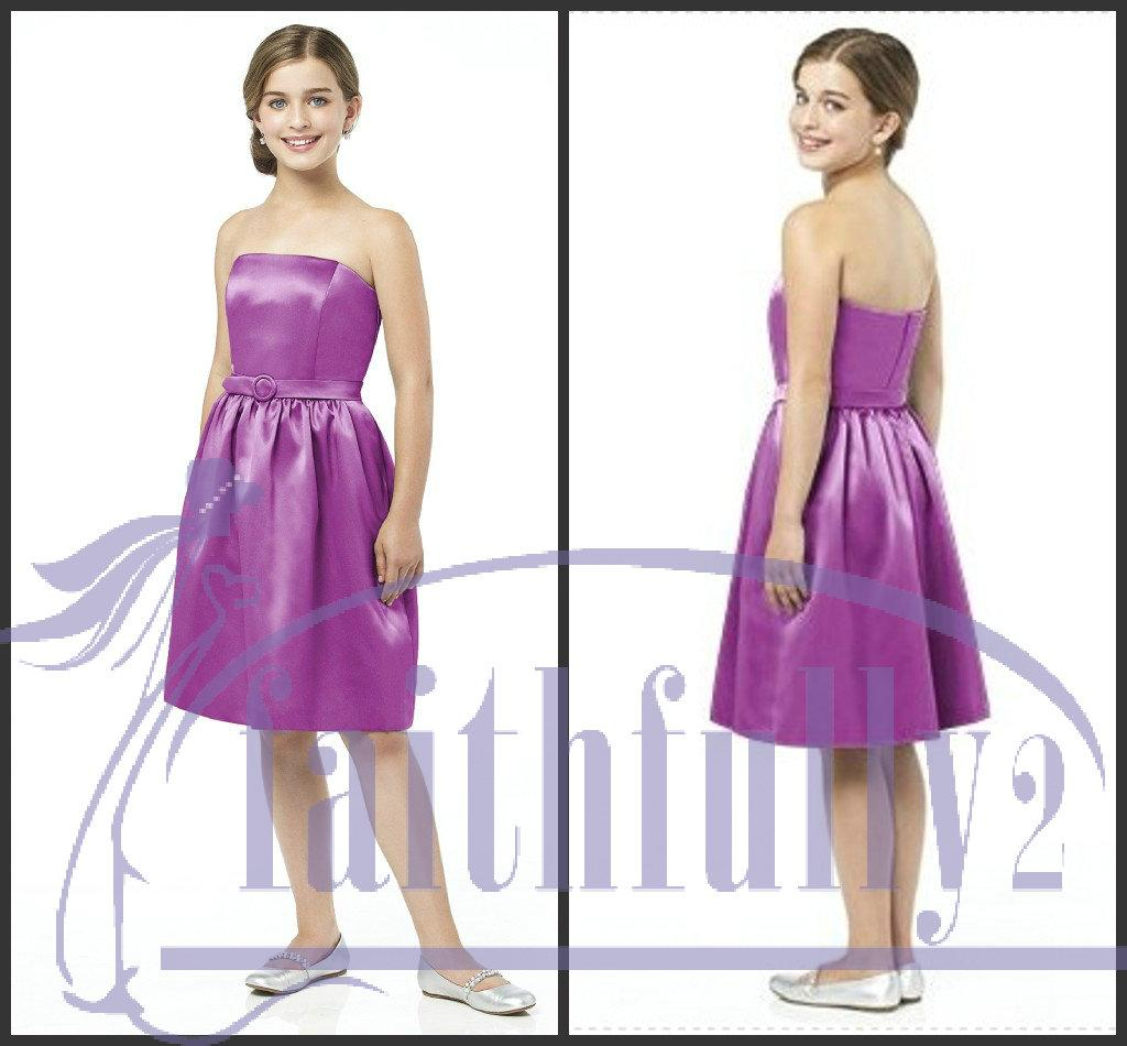 Charming junior bridesmaid dresses purple a line strapless charming junior bridesmaid dresses purple a line strapless matching skinny belt pockets side jr509 bridesmaid dresses for girls bridesmaid wedding dresses ombrellifo Images