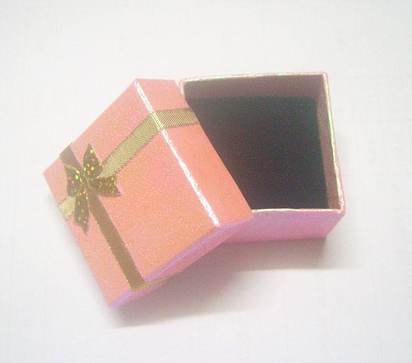 24шт / Лот 5x5x3см Кольцо Серьги Ювелирные Изделия Коробки Упаковочный дисплей для модного подарка BX15