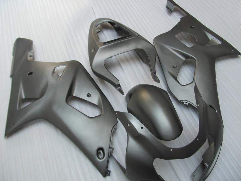 Kit de carenagem ABS liso preto fosco para SUZUKI GSXR 600 750 K1 2001 2002 2003 GSXR600 GSXR750 01 02 03