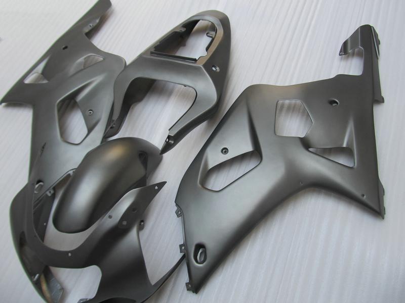 Mat Flat Black ABS Fairing Kit voor Suzuki GSXR 600 750 K1 2001 2002 2003 GSXR600 GSXR750 01 02 03