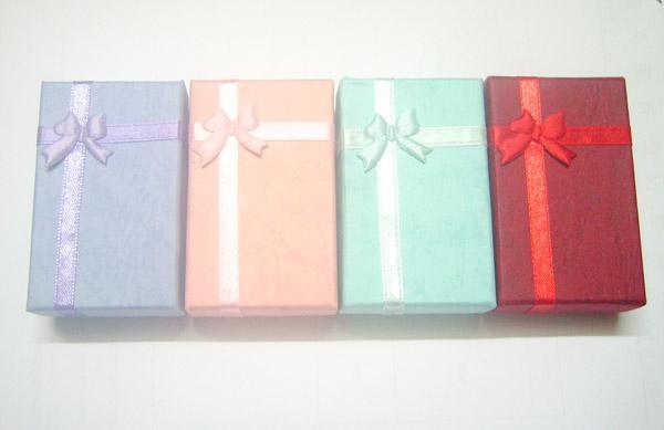 24 teile / los 5x8x2.5cm Ring Ohrring Halskette Set Schmuckkiste Verpackungsanzeige für Handwerk Geschenk BX16
