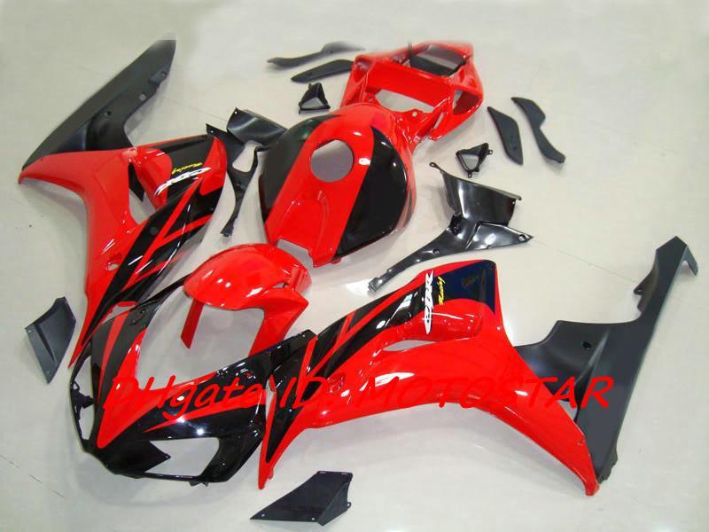 H164 OEM vermelho Corpo de injeção para HONDA 2006 2007 CBR1000RR CBR 1000RR CBR1000 06 07 carenagem de carroçaria