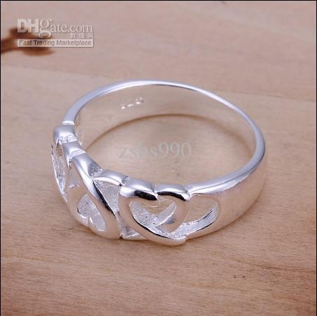 Preço de fábrica de alta qualidade 925 anel de prata 6-10 # moda jóias frete grátis 10 pçs / lote