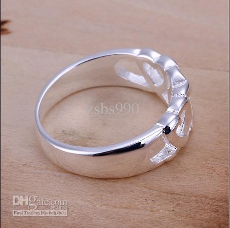 Fabrikpreisqualität 925 silberner Ring 6-10 # Art und Weiseschmucksachen geben Verschiffen 10pcs / lot frei
