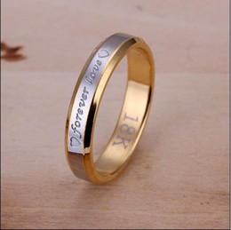 Wholesale Ms Top - Top quality stainless steel plated 18K gold forever love Ms. Ring Valentine's Day gift free shipping
