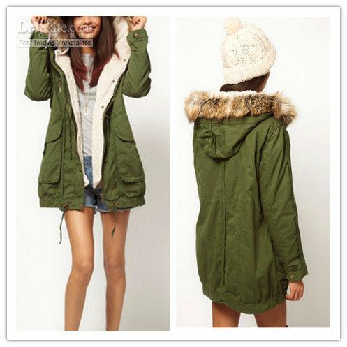 2018 Women Thicken Fleece Warm Winter Coat Zip Hooded Parka ...