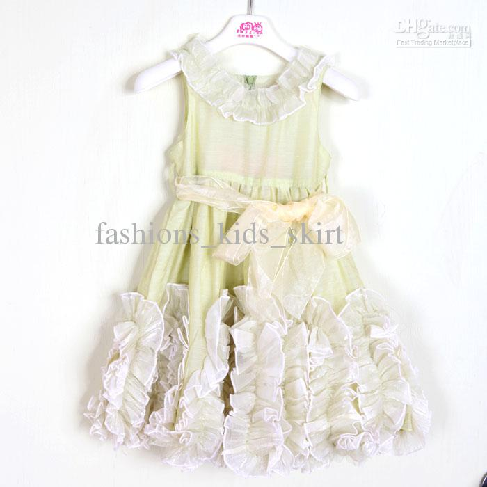 2013 Summer Gorgeous Princess Dresses soft Double layers Girl's Dresses Sweety Flower Kids Dresses
