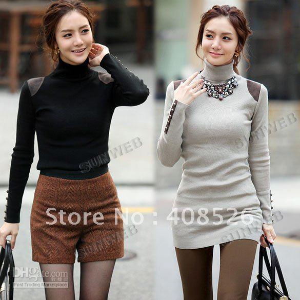 Best Autumn Winter Women's Sweater High Neck Long Sleeve Stretchy ...