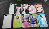 Wholesale Sublimation Cases Iphone 4s - custom photos For iPhone 4 4S Sublimation hot transfer print phone case + blank aluminium sheets insert free shipping DHL Fedex