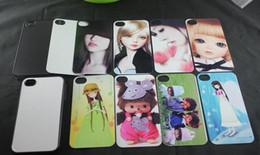 Wholesale Photo Inserts - custom photos For iPhone 4 4S Sublimation hot transfer print phone case + blank aluminium sheets insert free shipping DHL Fedex