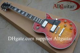 China Upgrade Custom Shop guitar red Sunburst burst ebony fingerboard frets binding Electric Guitar Chinese custom made Guitar suppliers