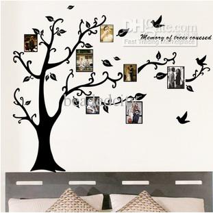 acheter funlife amovible noir photo arbre d coratif salon. Black Bedroom Furniture Sets. Home Design Ideas