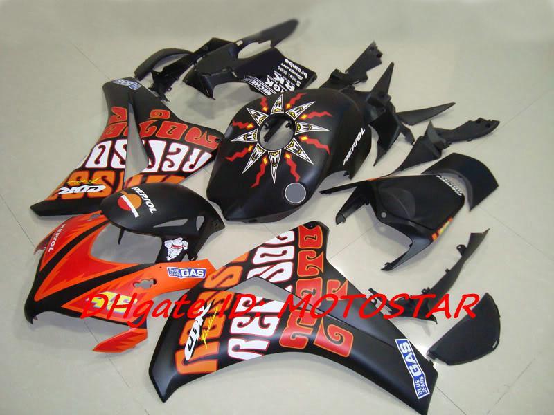 H187 Matt ABS Fairing Kit för 2008 2009 2010 2011 Honda CBR1000RR CBR 1000RR CBR1000 08 09 10 11