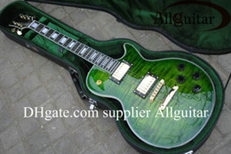 $enCountryForm.capitalKeyWord Canada - Custom Shop green burst ebony fingerboard gold hardware electric guitar Factory sales