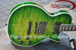 guitar factory china 2019 - custom shop guitar custom green burst guitar ebony fretboard black hardware China Guitar Factory Outlet