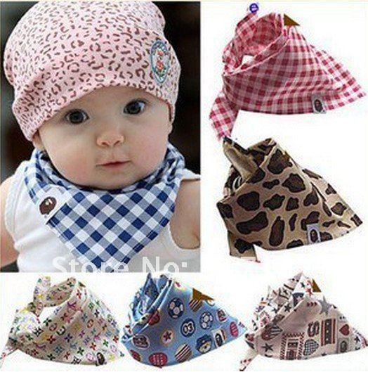 BABY GIRL AND BOY COTTON BANDANAS BABY BIBS MULTI PRINTED RANDOM Pretty Baby  Hair Accessories Best Hair Accessories For Toddlers From Sara2013 77b19a3d533