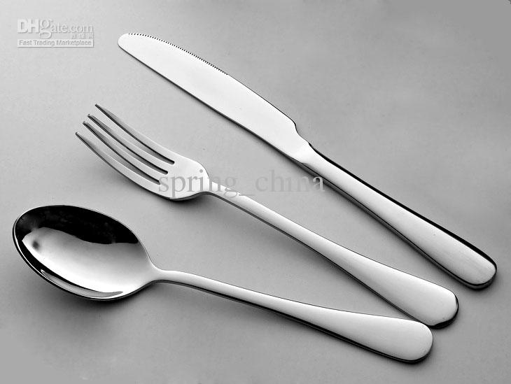tableware cutlery sets dinner knife fork spoon 3 different tableware stainless steel cutlery set. Black Bedroom Furniture Sets. Home Design Ideas