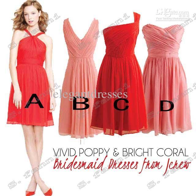 Cuatro mejores vestidos de dama de honor de alta calidad de la gasa del descuento de la alta calidad BDS006