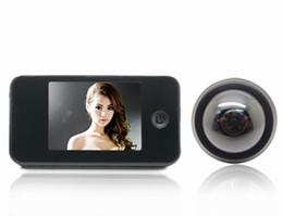 """Wholesale Security Camera Peepholes - Black 3.5"""" LCD Digital video Doorbell Viewer Door Peephole Security Camera Monitor DK809"""
