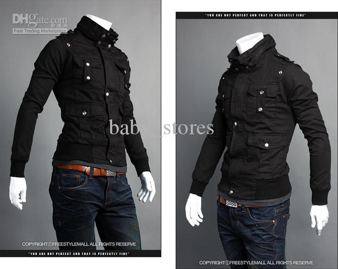 Winter New Style Men Jackets Fashion Sim More Pockets Leisure