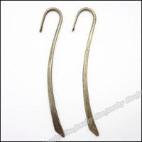 metall lesezeichen charme großhandel-Charms Lesezeichen hängende antike Bronze-Legierung passende Armband-Halskette DIY Metallschmucksachen 40pcs / lot