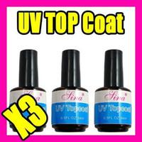 Wholesale Uv Gel Topcoat Acrylic Nail - Best Selling Free Shipping 3pcs LOT UV TOPCOAT Nail Art Gel Acrylic Durable Finish C012