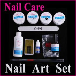 Wholesale Nail Art Kits Professionals - Professional Nail UV Gel Cleanser Plus Wiper Nail Art Tip Glue Pen Kit Set