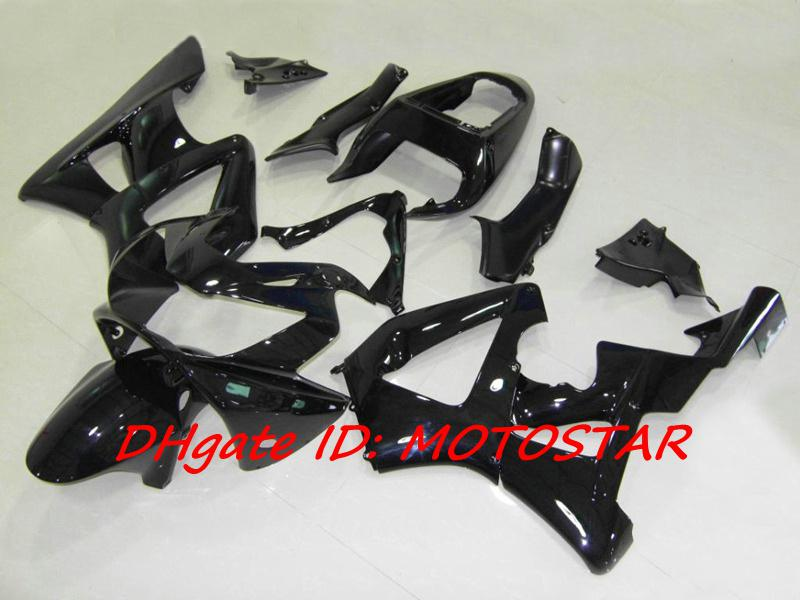 100% Injektion Svart Fairing Kit för CBR900RR 929 2000 2001 CBR900 929RR CBR929 00 01 CBR929RR Kroppsfeedningar Set