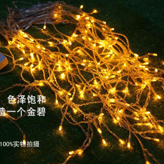 192 LED-lampen 8m * 0.55 ~ 0.65m Gordijnverlichting, Kerstmis Ijsbarellamp, Fairy Weddind Icicle LED-verlichting Waterdichte LED Licht Strip Verlichtingsstrips