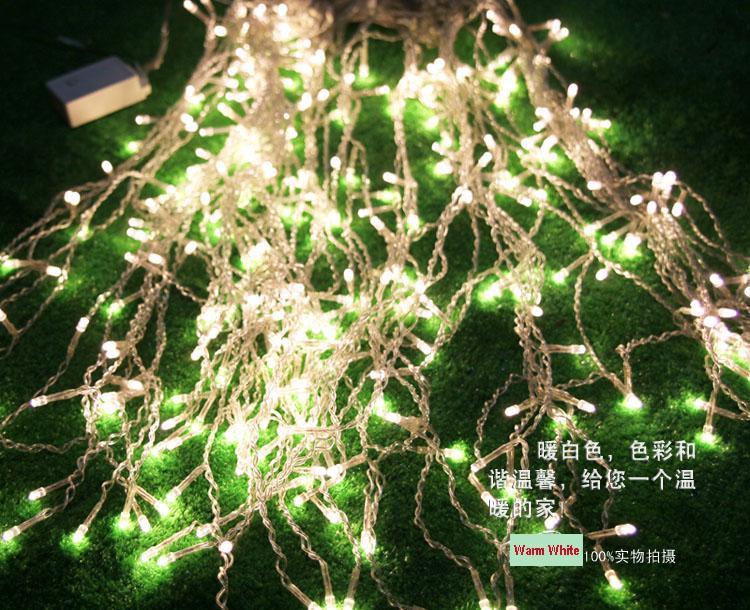 192 Lâmpadas de LED 8 m * 0.55 ~ 0.65 m Luzes Da Cortina, lâmpada de bar de gelo de Natal, Fada weddind icicle luzes led À Prova D 'Água levou luz faixa de iluminação tiras