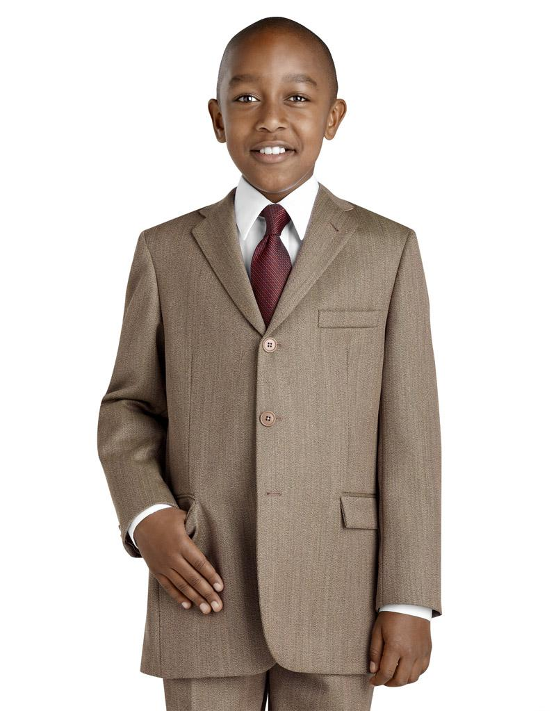 Hot Sale 3 Button Brown Boys Suit Boys' Formal Occasion Wear ...