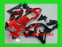 ingrosso cuscini neri cbr954rr-Personalizza kit carenatura ABS nero rosso per HONDA CBR954RR 954 2003 2002 CBR900 954RR CBR954 02 03 Set carene CBR900RR
